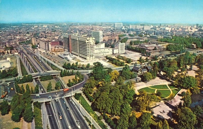 Uitzicht vanaf de Euromast in 1960