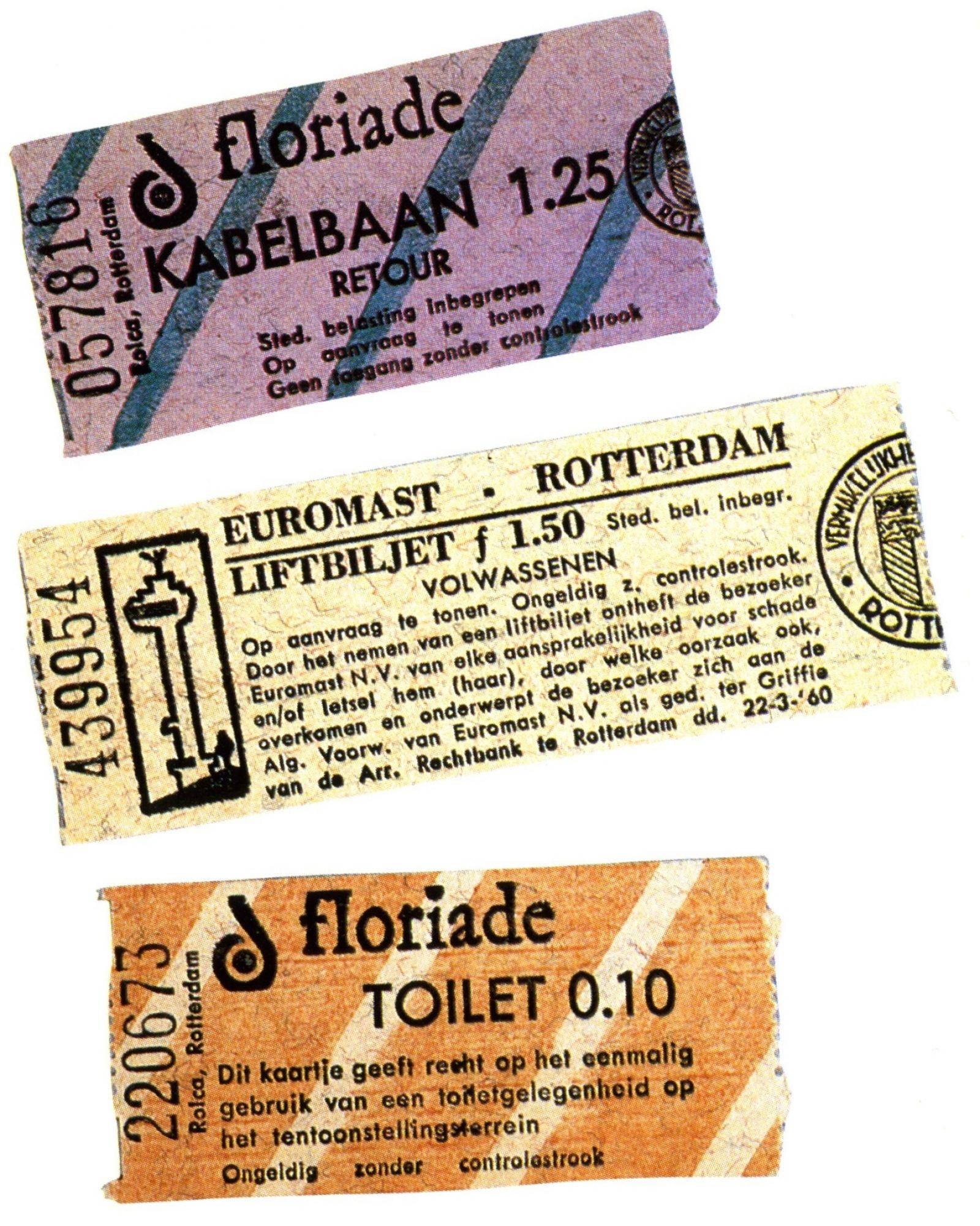 1960 floriade kaartjes