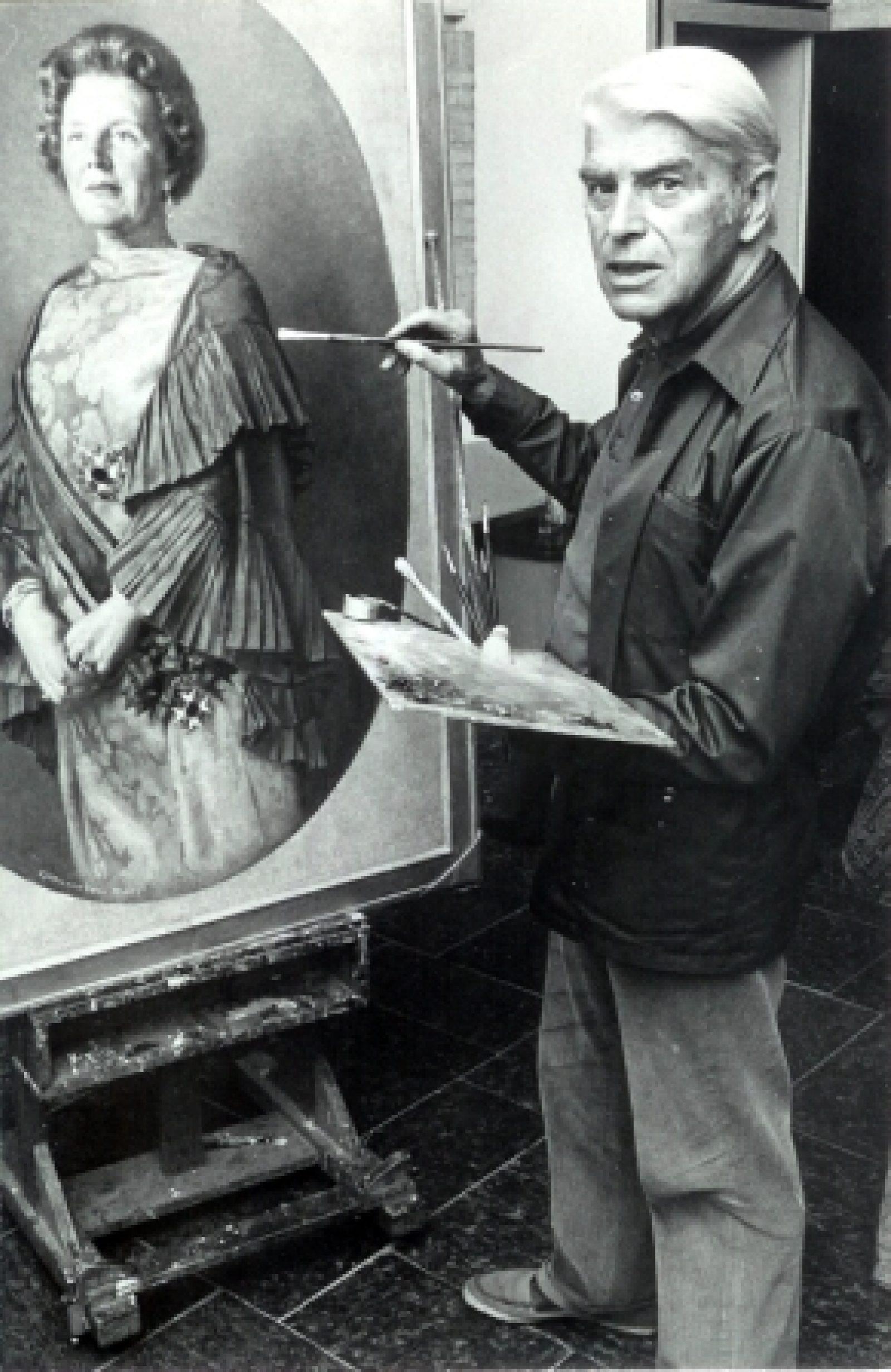 1973 Karel van Veen schildert Juliana