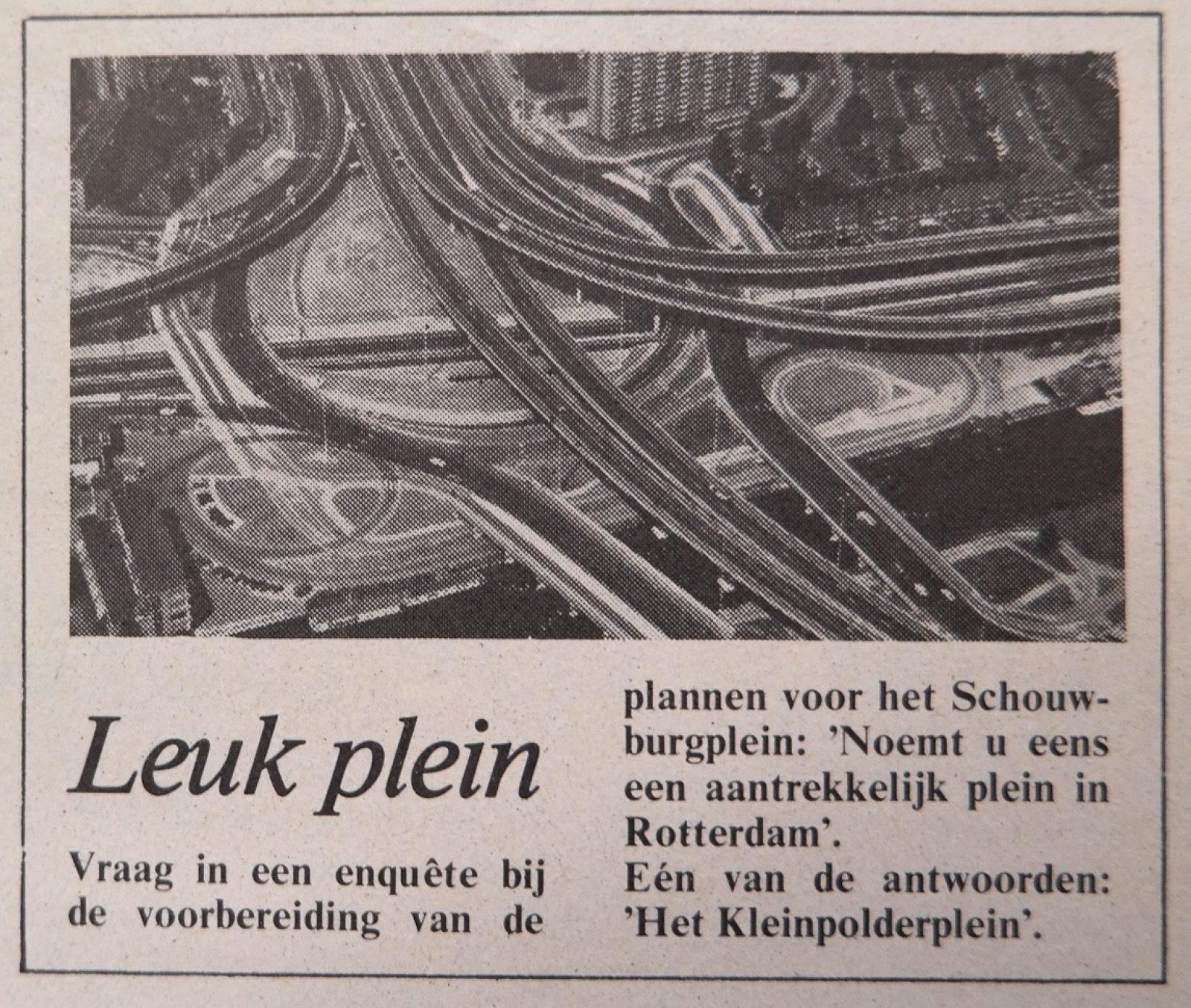 01 schouwburgplein 1977 Stadskrant 9 4 1977 kl
