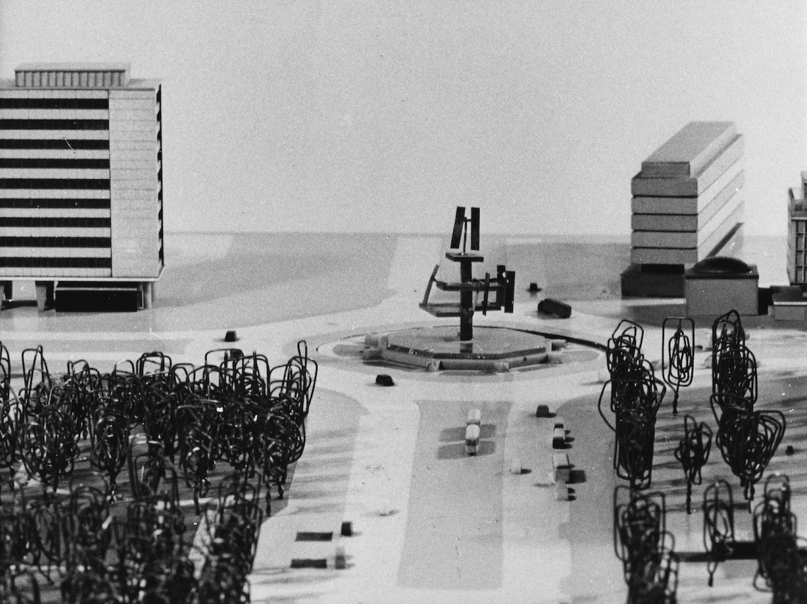 George Rickey Foundation Rotterdam Hofplein maquette 2