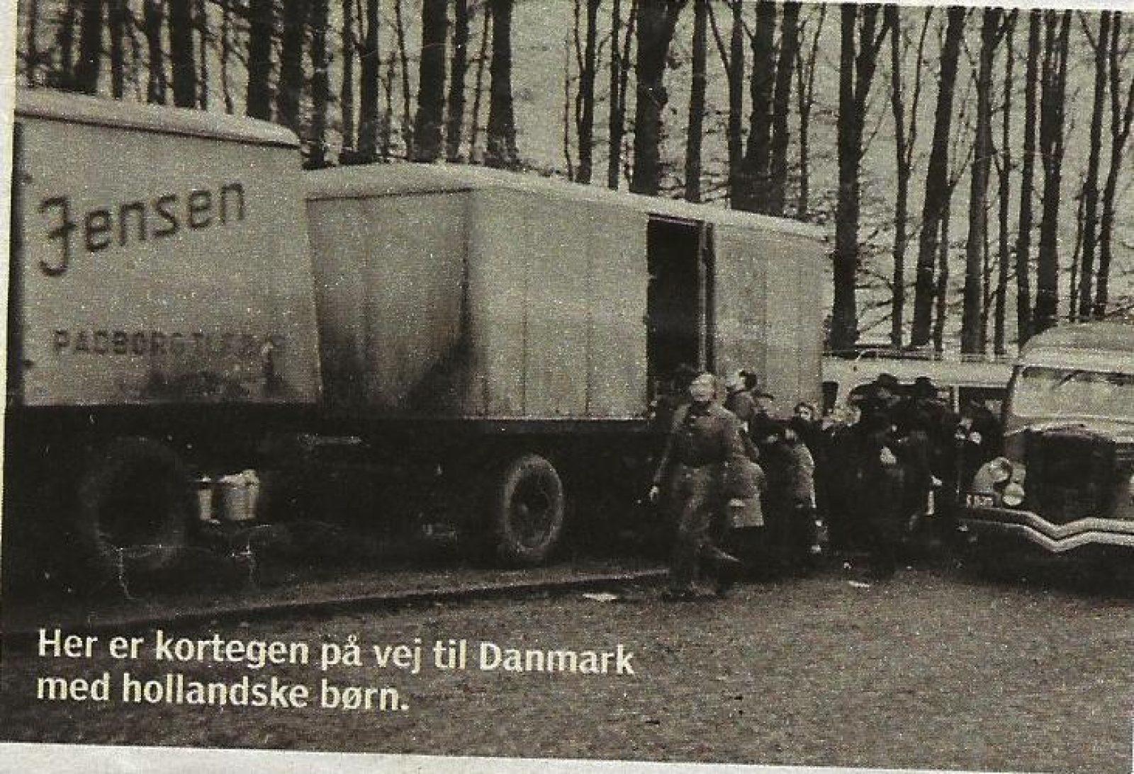 Helga Andersen transport in vrachtwagen naar Deense grens