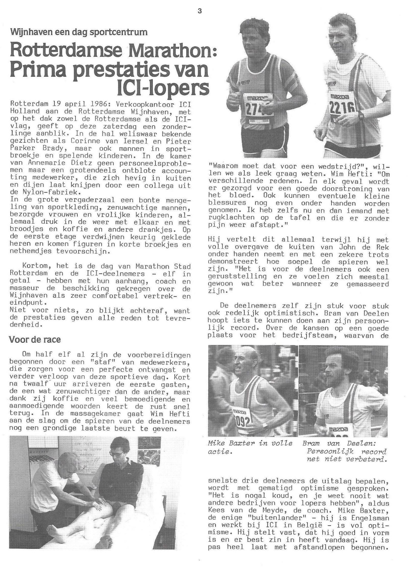 Spreekbuis apr 1986 Wijnhaven als sportcentrum Marathon