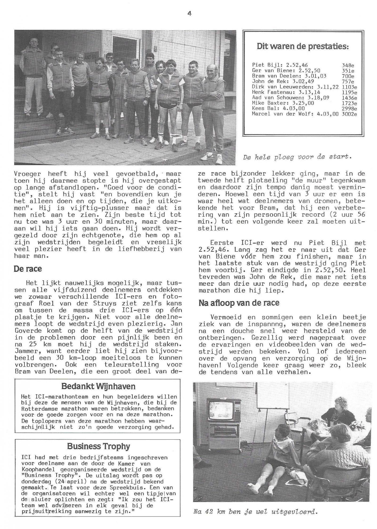 Spreekbuis apr 1986 Wijnhaven als sportcentrum ttv Marathon2