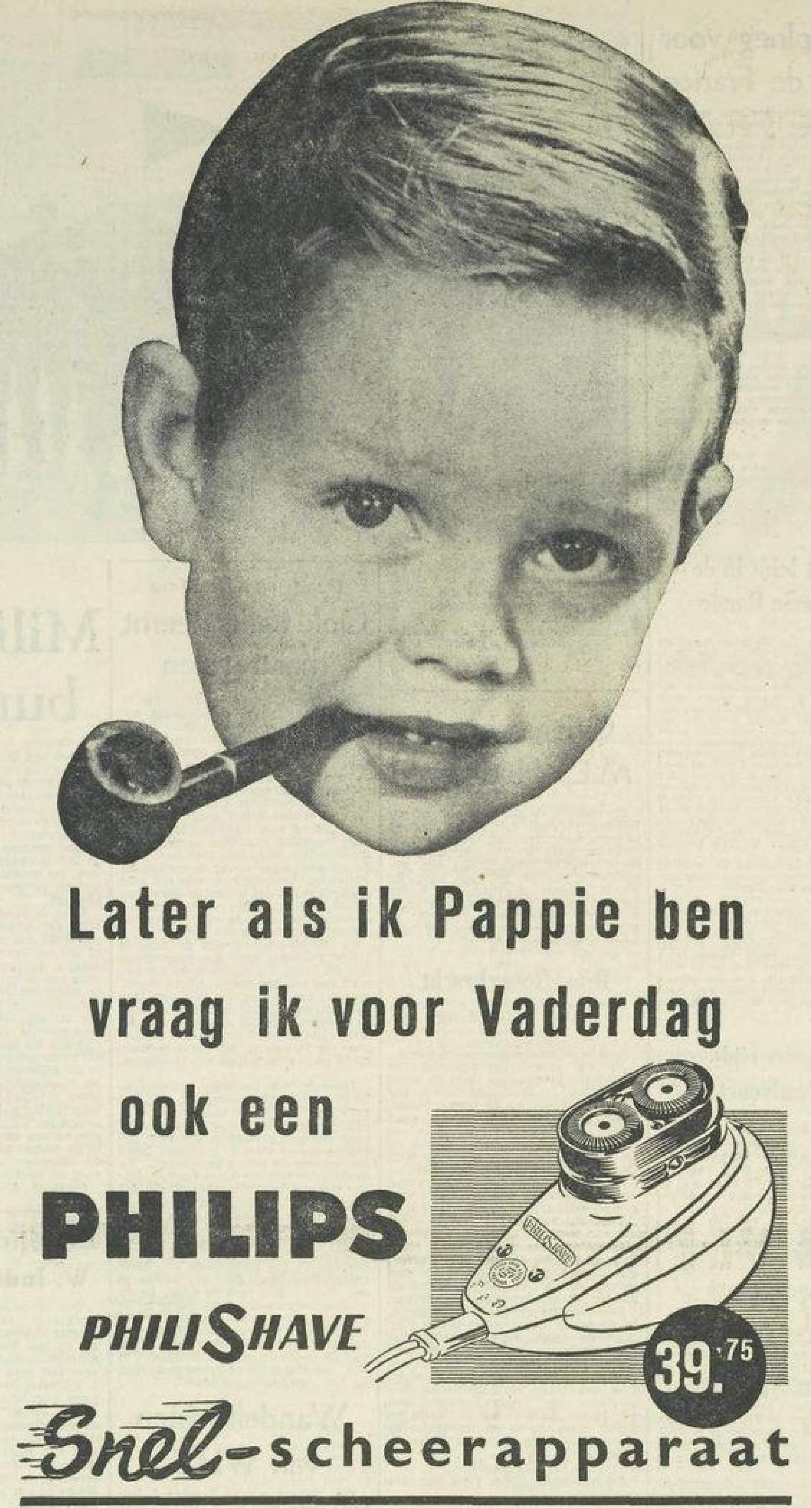 Vaderdag 1955 Advertentie Philips