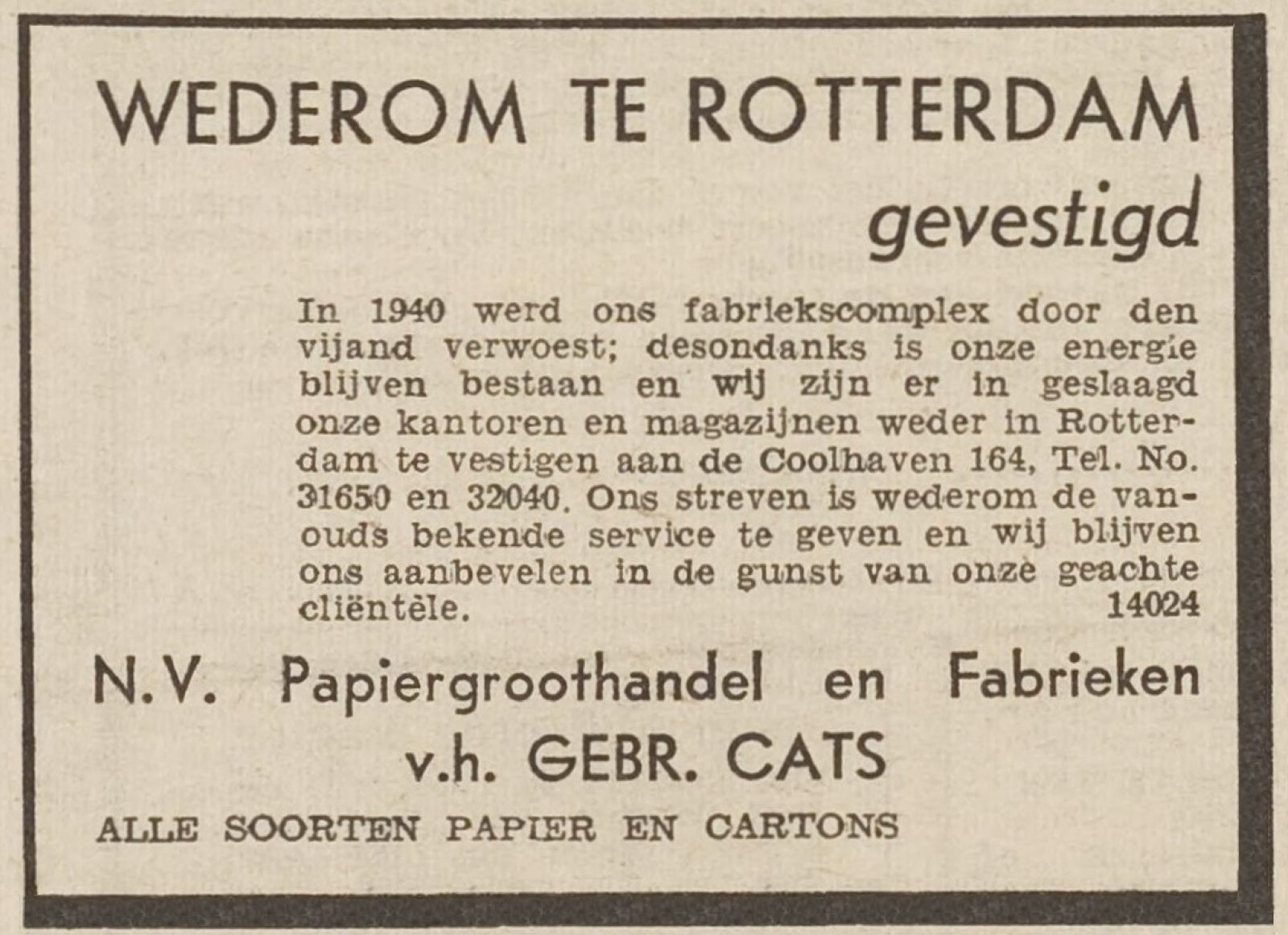A cats HVV 27 03 1946