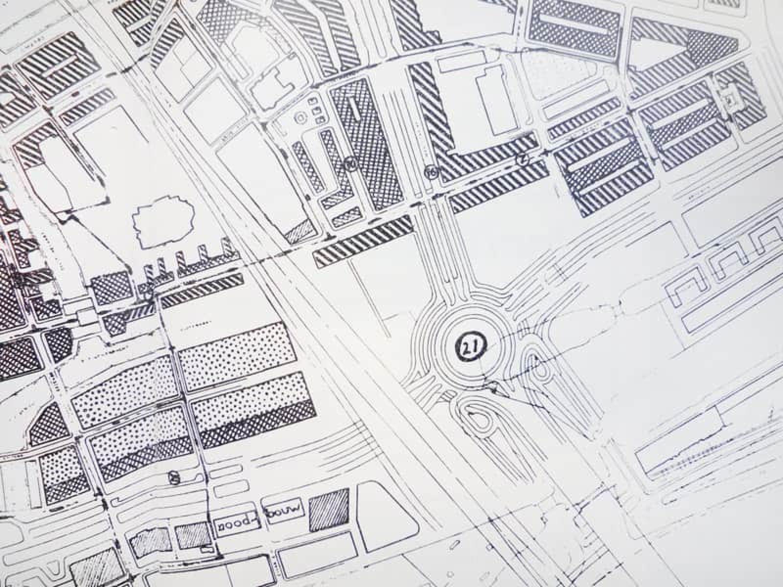 Onbekend Verkeersplein Plattegrond1