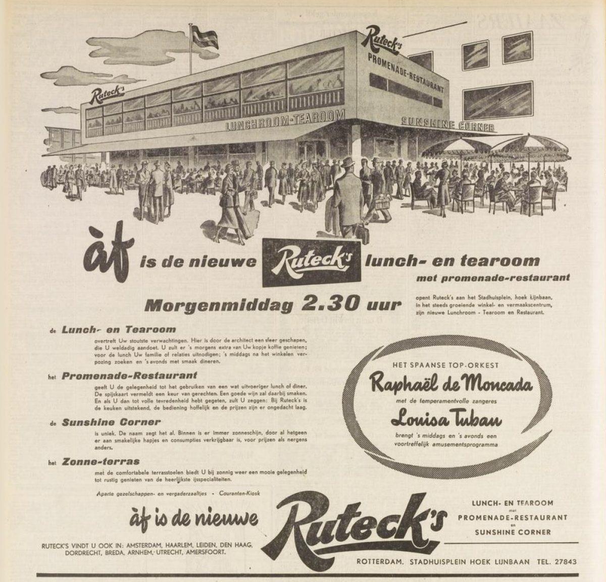 03 stadhuisplein 1955 rutecks HVV 13 05 1955