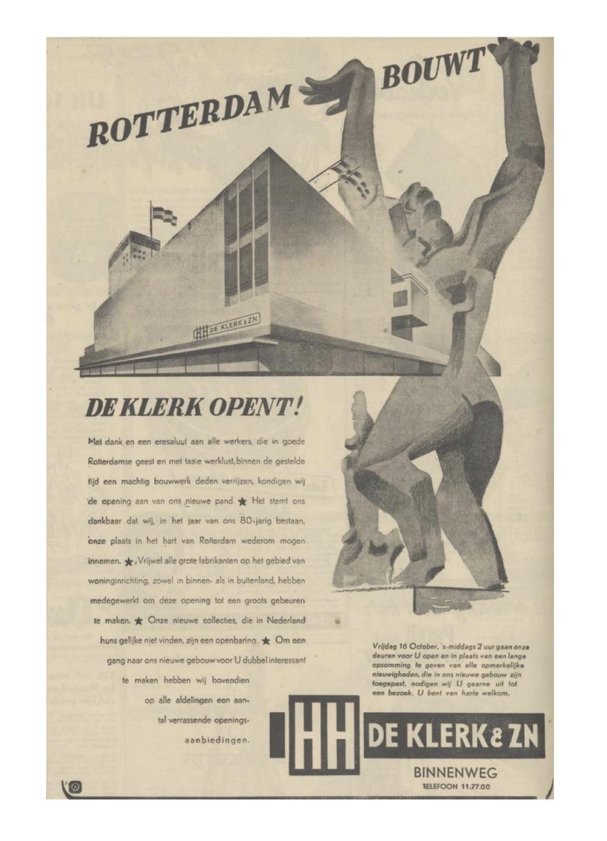 1953 1016 opening de klerk Nieuwsblad HW I Jsselmonde