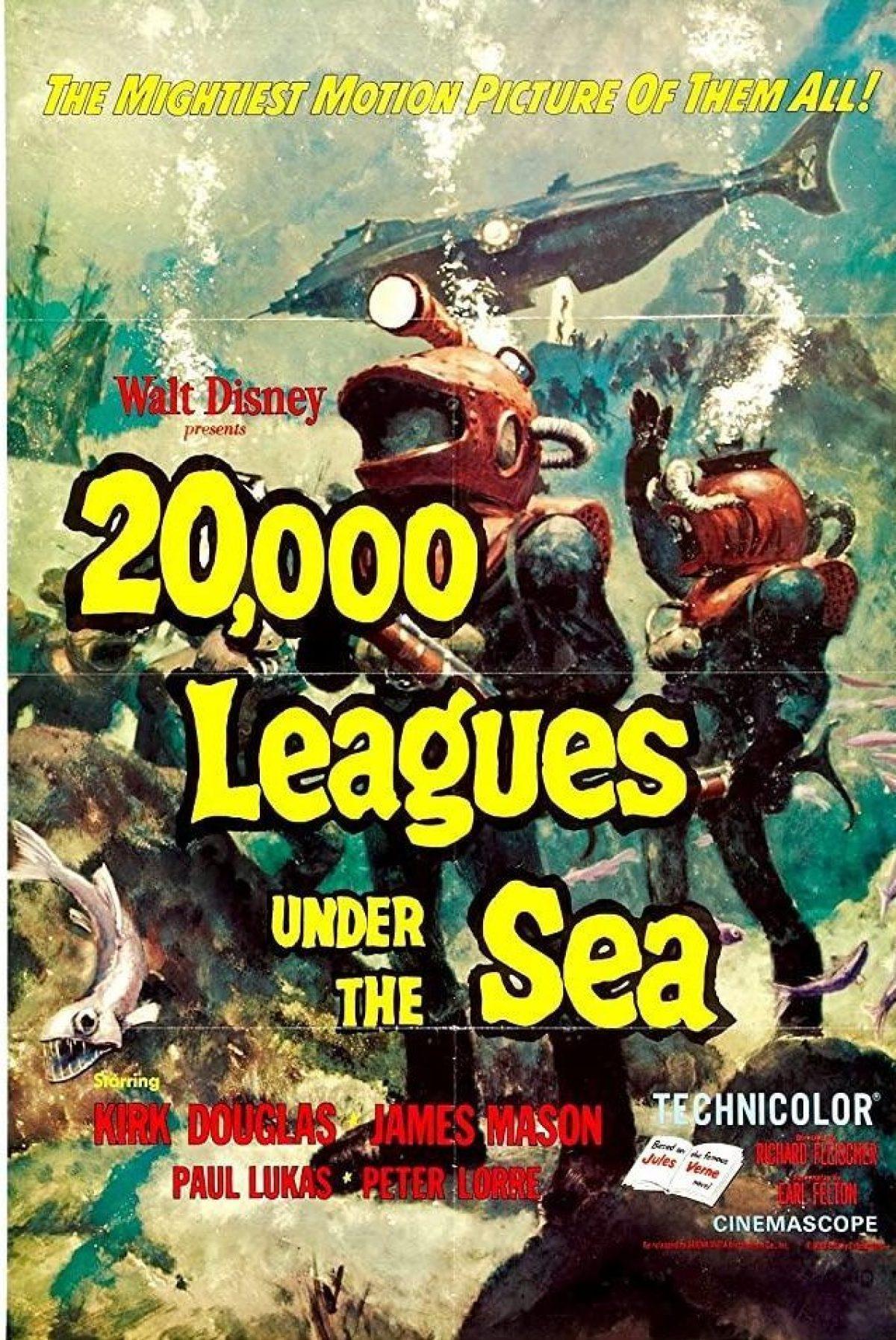 20000 mijlen onder zee affiche