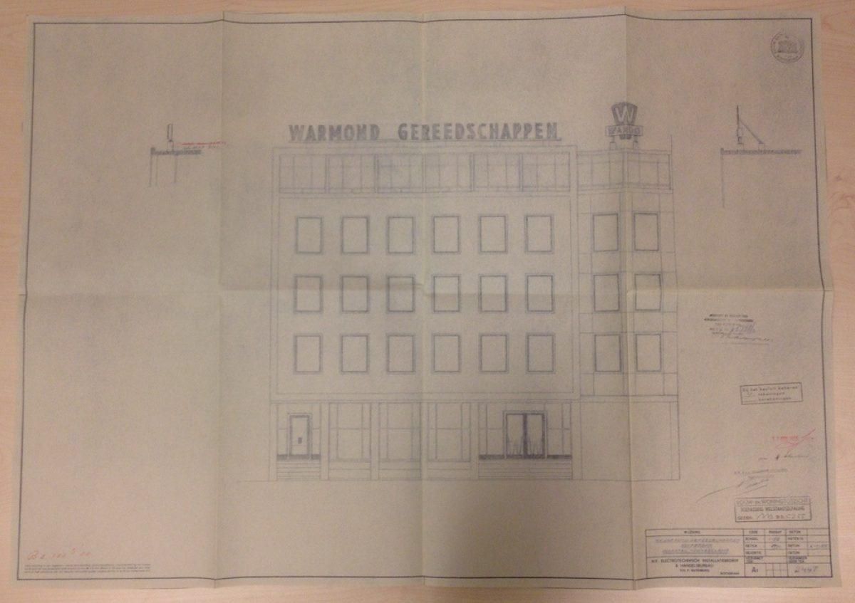 Delftsestraat Stadsarchief Warmond geveltekening