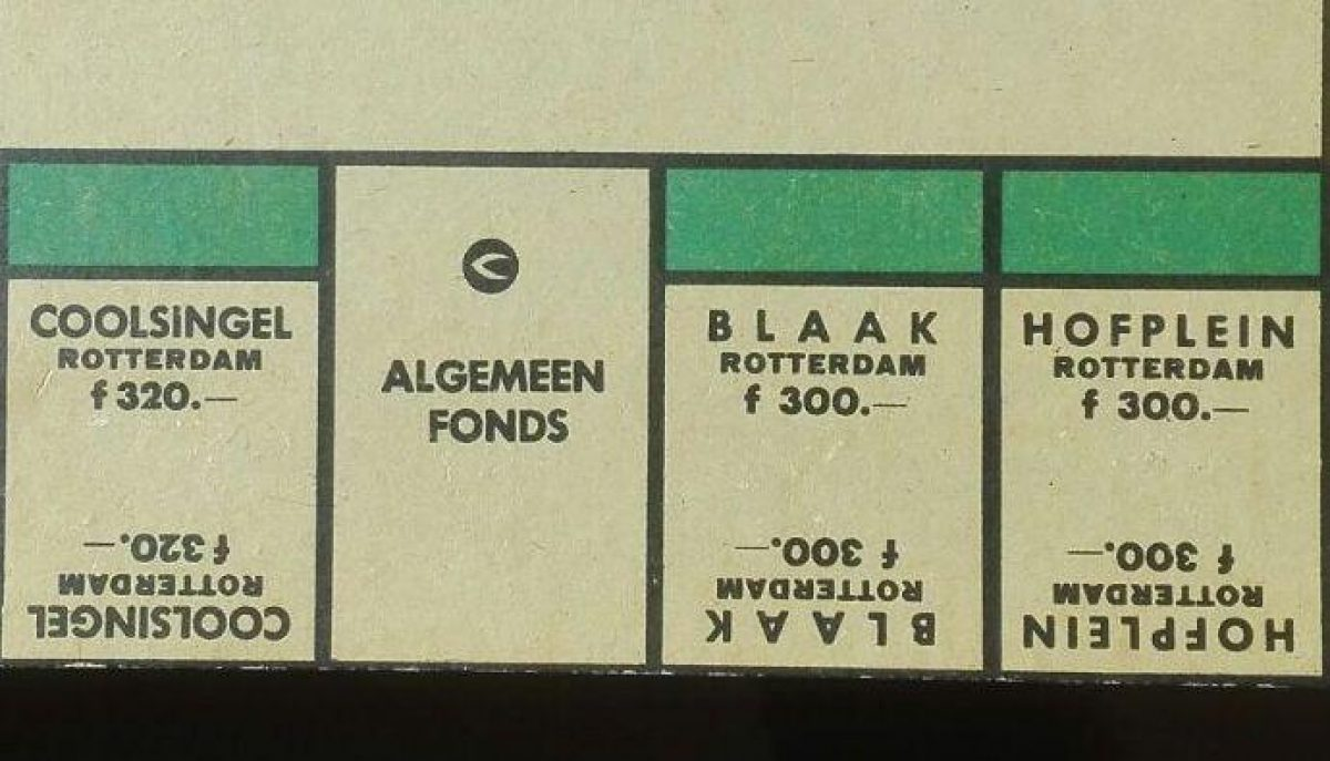 Monopoly Rotterdam straten