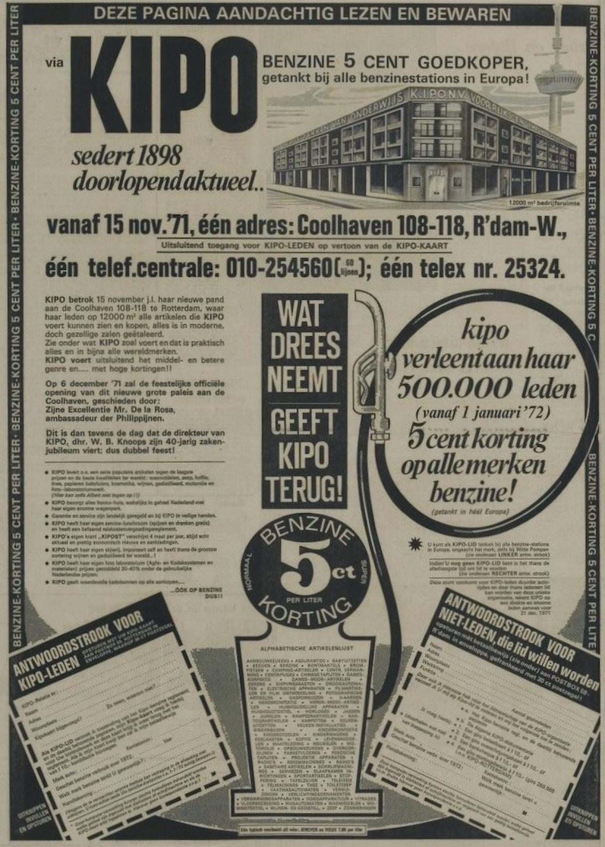 A 1971 KIPO Nieuwe Leidsche Courant 22 11 1971