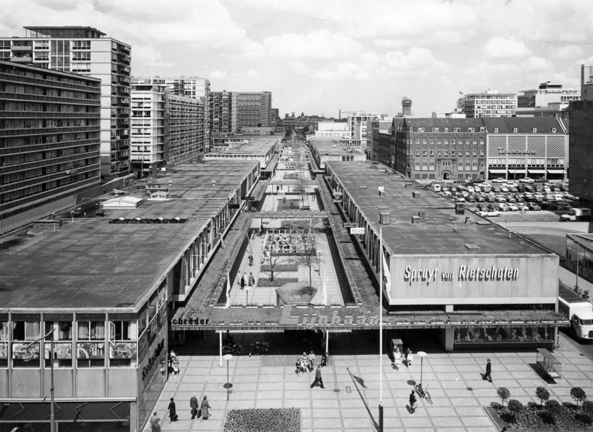 Lijnbaan shopping… | Post-war reconstruction Community Rotterdam