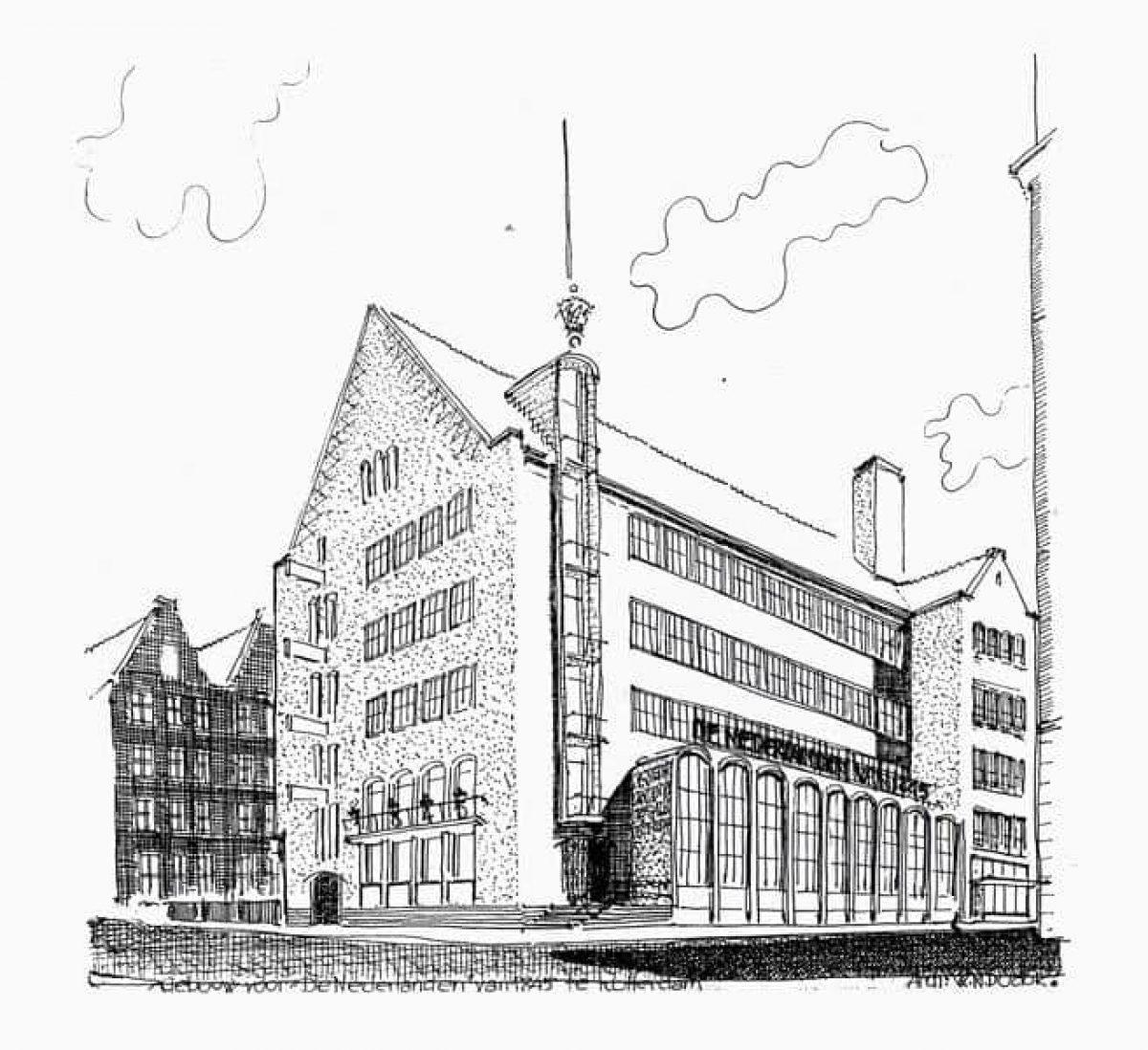 Nederlanden Van DudokPlatform Wederopbouw 1845café De Rotterdam SUqLMpVGz