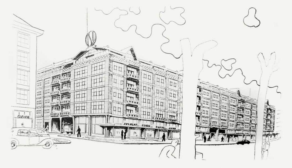 Stadsarchief Industriegebouw Tekening